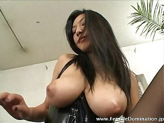 Lucky slave gets to eat a big titted mistress wet pink cunt