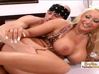 Skanky Waitress Gets Her Pierced Pussy licked and Fucked