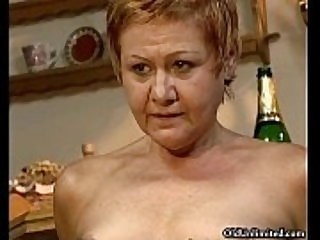 Nasty mature housewife riding a younger