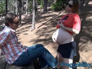 pregnant months anal fucking in the forest