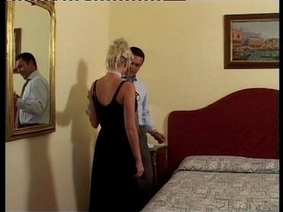Vintage porn Classy blonde in sexy lingerie fucked on bed