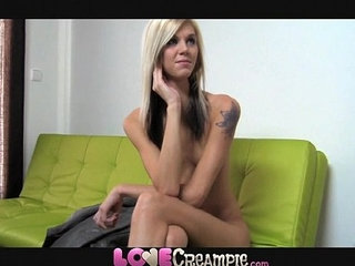 Love Creampie Young cute skinny blonde teen amateur takes big cock in office