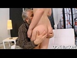 Crazy old dude fucks young hotty