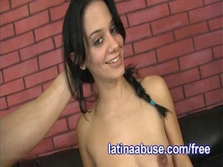 Skanky Latina Gets Throated Hard